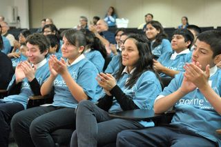 Charter School Students Enjoying a Lecture